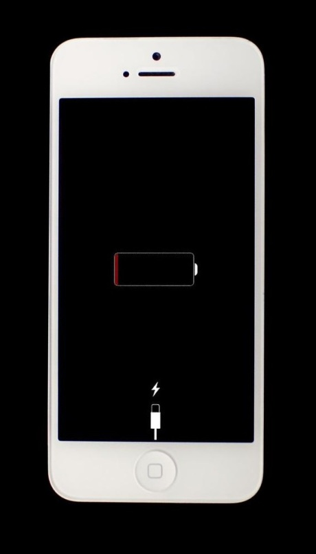 "Dreaded ""out of battery"" icon"