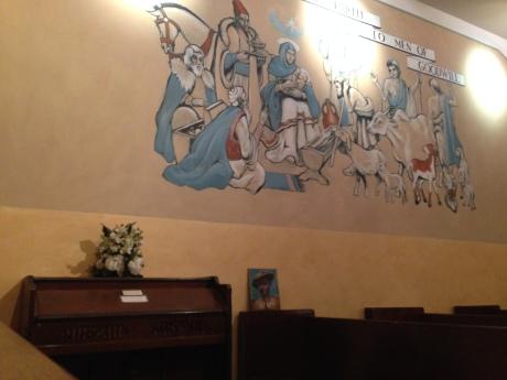 Mural in the museum