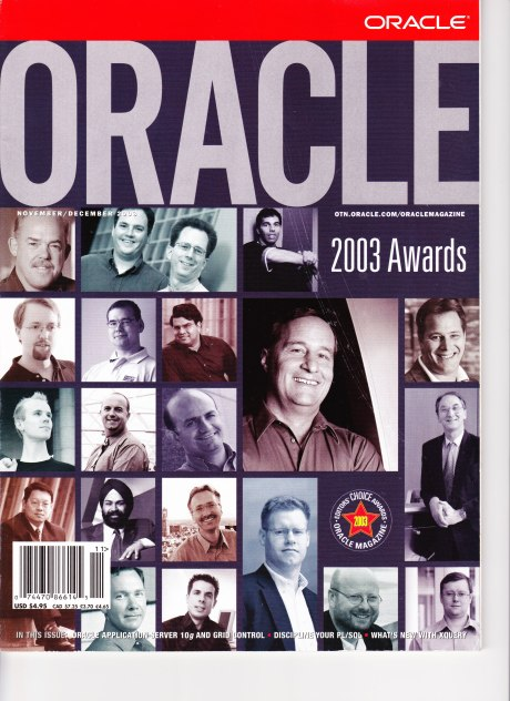 Oracle Magazine award winners 2003!