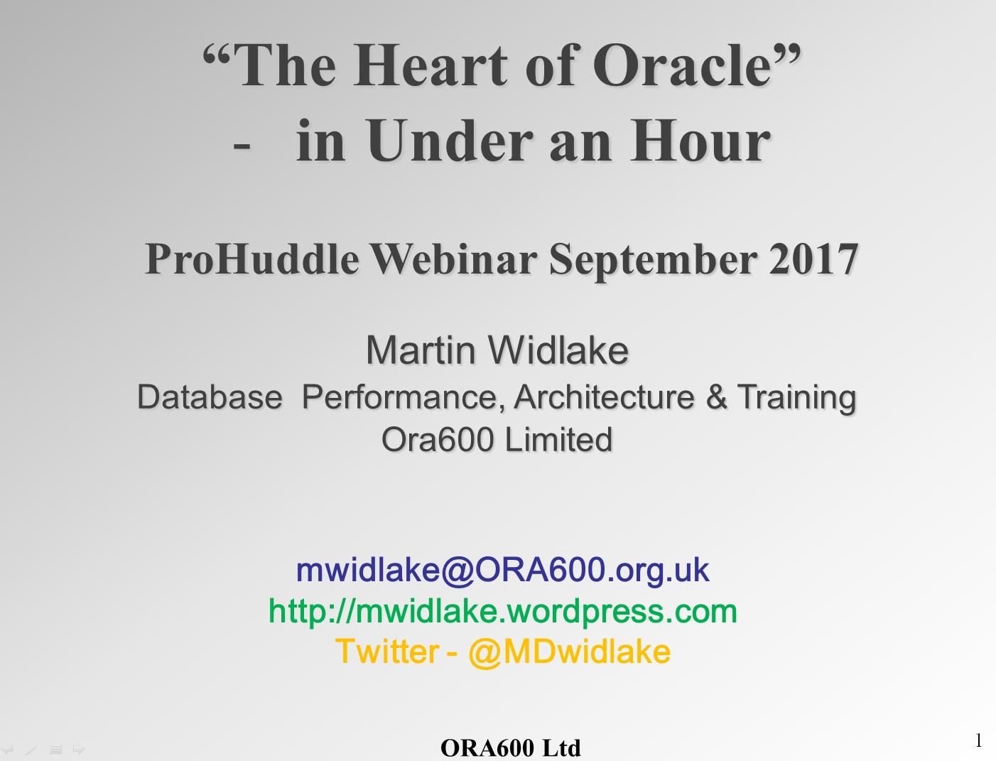 Free Webinar – How Oracle Works!