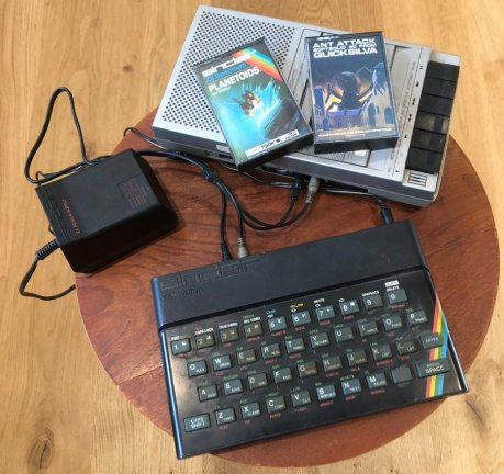Spectrum with games and tape recorder